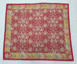 Mughal Empire Manchester Print Chakla (Wall Hanging) From Manchester England made for Indian Market. India. Roller Printed on Cotton.C.1900. Its size is 68cmX78cm (20191223_145331).