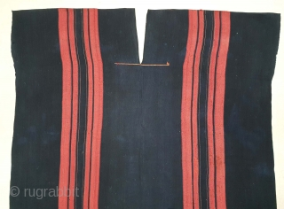 Indigo Blue (natural Dye) Cotton costume From Chin Hills (Chin Hills are a range of mountains in Chin State, northwestern Burma (Myanmar), that extends northward into India's Manipur state) North-East India. India.  ...