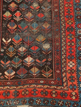 Persian looks Kurdish to me ?  What do I  know (lol)  From same collection of textiles and rugs put away for 30 years trunks packed.  This one has  ...