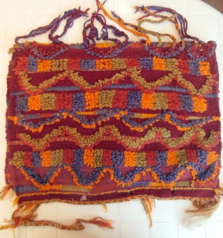 "MOROCCAN BERBER HIGH ATLAS TENT BAG. Known as ""aalau"" which is a squarish, partly piled bag usually woven by Berber women of the Ait Bou Ichaouen in the eastern High Atlas. The  ..."