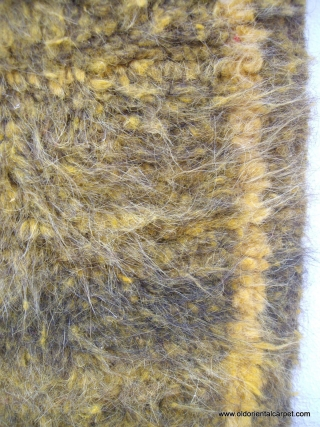 MOROCCAN WOOL AND GOAT HAIR RUG. This originates from the vast area west of Marrakech where goats are plentiful and often climb trees to eat the Argan berries. The warps are hand  ...