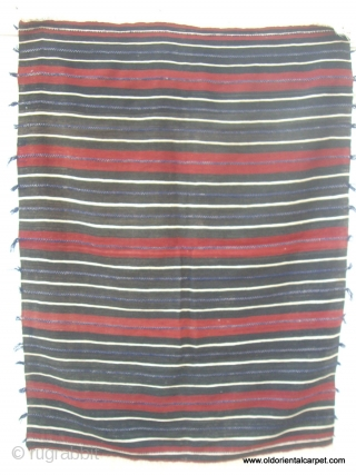 """MOROCCAN BERBER MIDDLE ATLAS CAPE. A cape, or """"handira"""", from the Berber group Ait Morhad in the Middle Atlas. It is very finely woven with soft hand spun wools. Handiras are worn  ..."""
