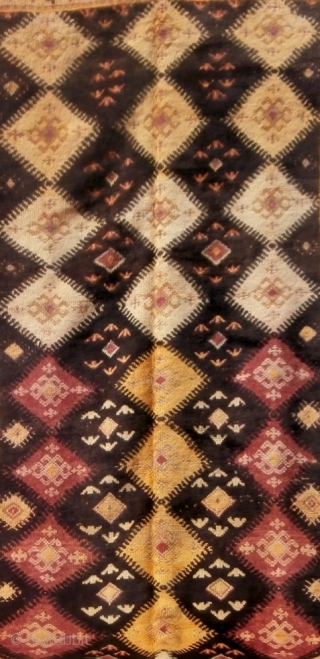 MOROCCAN HIGH ALAS BERBER CARPET. This is a superb and rare example from the Ait Zenaga Berbers and is among the oldest carpets I have. The condition is excellent with original ends  ...
