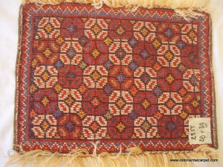 PERSIAN LURI BAG FACE / ARTIFACT which is antique, intact, has full pile and is in excellent condition. The wools are lustrous and silky and the colours have great depth. It is  ...