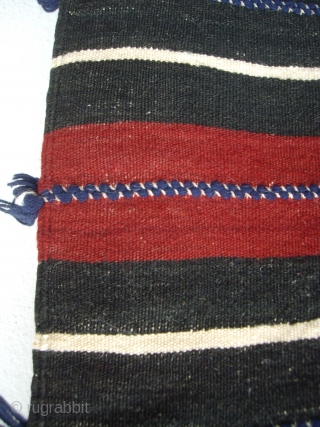 "MOROCCAN BERBER MIDDLE ATLAS CAPE. A cape, or ""handira"", from the Berber group Ait Morhad in the Middle Atlas. It is very finely woven with soft hand spun wools. Handiras are worn  ..."