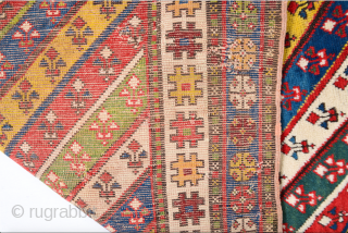 19th Century Colorful Caucasian Gendje Rug Size 105 x 183 Cm If You Need Any More Detail Or Information Please Let Me Know.