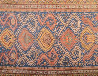 Early Caucasian Dragon Sumak circa 1850 size 157 x 333 cm It Has Really Unusual Design.