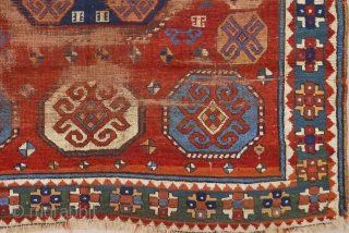 Circa 1800s Really Unusual Type Of Three Of Life Caucasian Rug Size 150 x 170 Cm.Completely Original Untouched One.