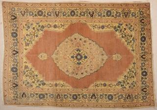 A Nice Tebriz (Haji Jalili) Rug Size 125 x 177 cm.He name of the master weaver, Hadji Jallili (Haji Jalili), lives on as perhaps the single most important creator of unique design  ...