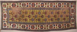 Mid.19th Century Caucasian Gendje Rug Size 111 x 267 Cm