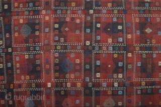 Late 19th Century Caucasian Sofreh 165 x 271 Cm