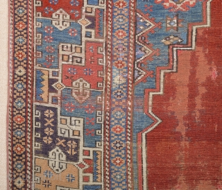 An Unusual Late 18th Century Anatolian Rug.Untouched One Size 115 x 140 cm