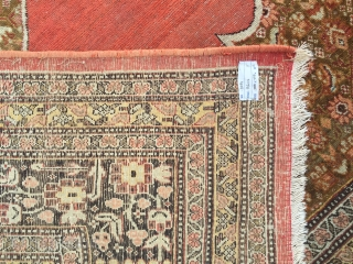 Circa 1900 Persian Probably Tabriz Large and Decorative Piece.Size 280 x 377 Cm Reasonable One.