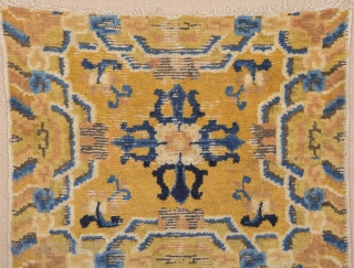 Circa 1800s Ningxia rug in good condition and has perfect colors.Size 68 x 115 cm