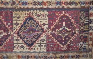 Early 19th Century Reyhanlı Area Kilim Size 160 x 350 Cm.Untouched As found it.
