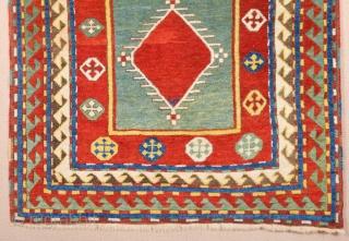Caucasian Fachralo Rug circa 1870 Size 105 x 134 cm It's in perfect condition all original untouched piece.
