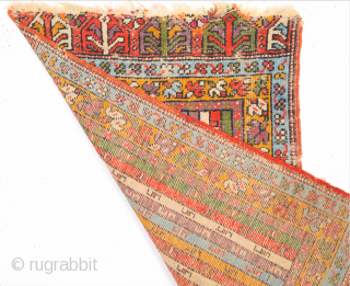 Mid 19th Century Mudjur Yastik Size 54 x 86 cm As Found It untouched.