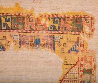 18th Century Cappadokia Colorful Rare Fragment Size 90 x 110 cm