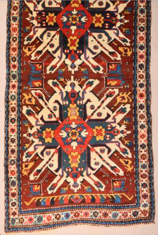 19th Century Caucasian Eagle Rug Size 110 x 225 cm