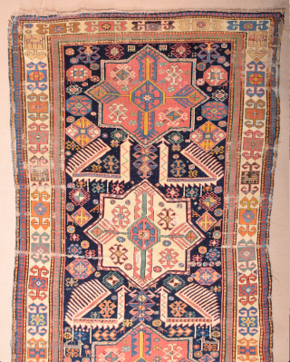 Early 19th Century Akstafa Bird Rug As founded. It has nice details selling as it is but ıf would you like to repair it possible to do it. If you need any  ...
