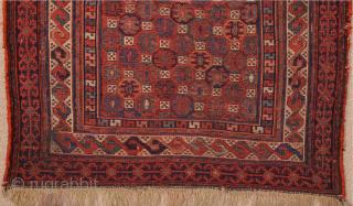 Late 19th Century Shahsavan Sumac bagface Size 60 x 52 cm Untouched Original Piece