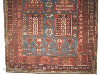 "Baku Caucasian circa 1910 antique. Size: 175 x 123 (cm) 5' 9"" x 4'   carpet ID: RS-302