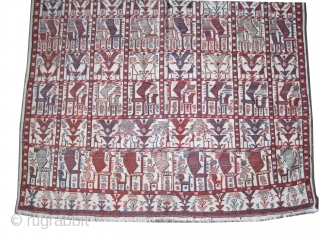 """Vernneh Caucasian circa 1910 antique. Collector's item, Size: 231 x 150 (cm) 7' 7"""" x 4' 11""""  carpet ID: A-1168 Woven with 100% hand spun wool, all over peacock design, very  ..."""