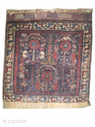 "Qashqai Persian, a pair bag faces, circa 1900 antique, collector's item, Size: 66 x 64 (cm) 2' 2"" x 2' 1""  carpet ID: K-4779