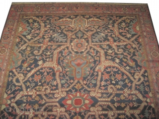 "Bakshaïsh Heriz Persian circa 1900 antique. Size: 452 x 316 (cm) 14' 10"" x 10' 4""  carpet ID: P-1928