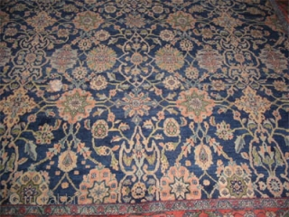 """Mahal Persian circa 1925 Semi antique. Size: 503 x 360 (cm) 16' 6"""" x 11' 10""""   carpet ID: P-5947 High pile, perfect condition, the warp threads are blue and beige cotton, the  ..."""