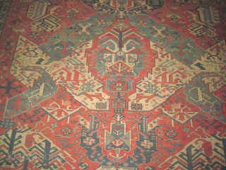 """Soumak kelim Caucasian old with dragon design, over size  616 x 530 (cm) 20' 2"""" x 17' 5""""  carpet ID: A-887 The background color is salmon, the surrounded large border  ..."""