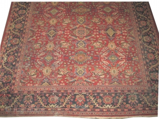 "Mahal Persian circa 1920 semi antique, Size: 436 x 308 (cm) 14' 4"" x 10' 1""  carpet ID: P-3919