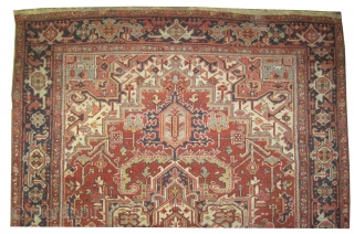"""Serapi Heriz Persian circa 1910 antique. Collector's item, Size: 312 x 224 (cm) 10' 3"""" x 7' 4""""  carpet ID: P-1902  High pile, in perfect condition, the black color is  ..."""