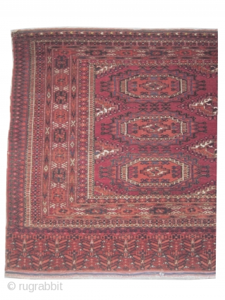 Tchwal Turkmen, knotted antique, 88 x 162 cm, carpet ID: SRO-1 Very finely knotted, in good condition.