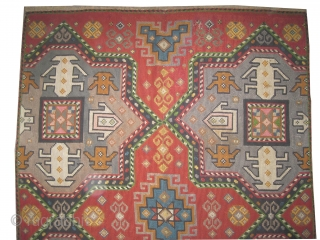 "Swedish needle point, embroidered circa in 1925, old,  263 x 188 (cm) 8' 7"" x 6' 2""  carpet ID: A-634
