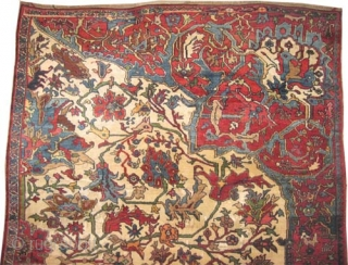 "Bidjar Halvai Persian Wagire knotted circa in 1905 antique, collectors item, Size: 260 x 172 (cm) 8' 6"" x 5' 8""  carpet ID: P-442.
