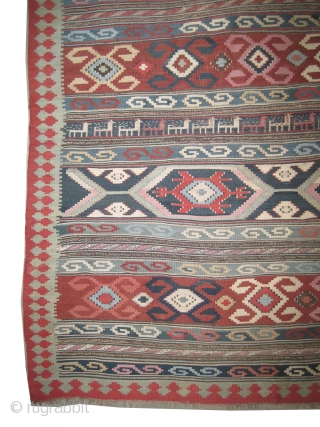 "Shirvan - Palace Caucasian dated three times 1284 = 1867 Antique, collectors item. Size: 400 x 216 (cm) 13' 1"" x 7' 1""  carpet ID: LM-11
