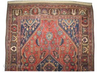 """Qashqai Persian knotted circa in 1910 antique, collector's item, 183 x 127 (cm) 6'  x 4' 2""""  carpet ID: K-4369 The knots, the warp and the weft threads are hand spun  ..."""