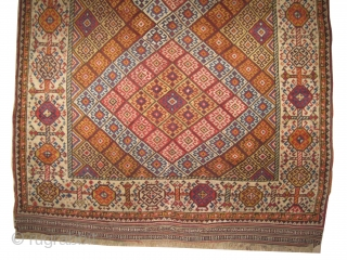 "Qashqai Persian, knotted circa in 1870 antique, collector's item,  172 x 130 (cm) 5' 8"" x 4' 3""  carpet ID: K-4719