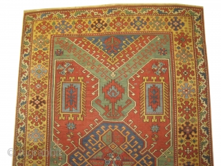 """Bergama Anatolian, knotted circa in 1860, antique, collector's item.  283 x 181 (cm) 9' 3"""" x 5' 11""""  carpet ID: CC-10 The knots, the warp and the weft threats are wool,  ..."""