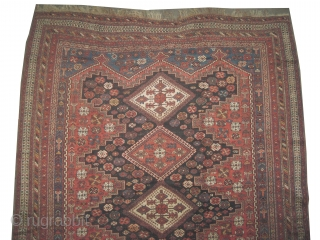"Afshar Persian knotted circa in 1905 antique, collector's item, 260 x 212 (cm) 8' 6"" x 6' 11""  carpet ID: P-5303