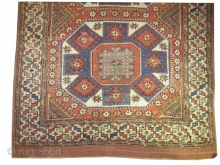 "Bergama Anatolian antique, Collector's item, as size: 186 x 146 (cm) 6' 1"" x 4' 9"" feet, CarpetID: K-4679.