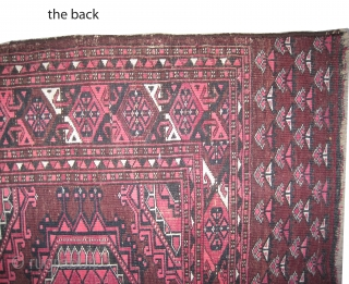"Turkmen Tschwal, knotted circa 1890, antique. Collectors item. Size: 168 x 92 (cm) 5' 6"" x 3' feet, carpet ID: SA-1188 