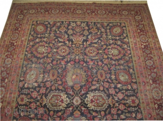 "Kirman Lavar Persian, circa 1920,  Size: 395 x 273 (cm) 12' 11"" x 8' 11""  carpet ID: GUR-1 