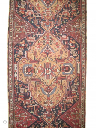 """Afshar Persian runner, knotted circa in 1880 antique, collector's item. Size: 465 x 115 (cm) 15' 3"""" x 3' 9""""  carpet ID: E-530 High pile, in perfect condition, very rare example, fine  ..."""
