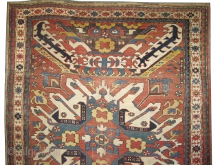 "Tchelaberd Dragon Caucasian knotted circa in 1860 antique, collector's item. Size: 210 x 144 (cm) 6' 11"" x 4' 9""  carpet ID: K-4065