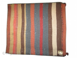 """Soumak Caucasian cushion circa 1905. Antique. Collector's item. Size: 48 x 42 (cm) 1' 7"""" x 1' 5""""  carpet ID: A-715 Perfect condition, vegetable dyes, woven with hand spun 100% wool,  ..."""