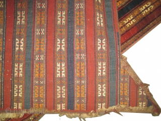 """Yemouth Turkmen horse cover, knotted circa in 1920 antique, collector's item. Size: 134 x 98 (cm) 4' 5"""" x 3' 3""""  carpet ID: K-3990 High pile, in perfect condition, soft wool, three  ..."""