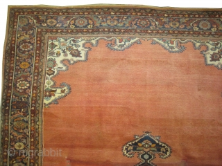 "Ziegler-Mahal Persian, knotted circa in 1905 antique. Collectors item, Size: 380 x 270 (cm) 12' 6"" x 8' 10""  carpet ID: P-1399