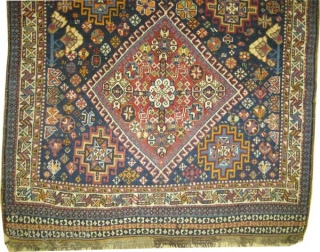 "Shiraz Persian, circa 1900 antique. Collector's item, Size: 255 x 144 (cm) 8' 4"" x 4' 9""  carpet ID: E-497